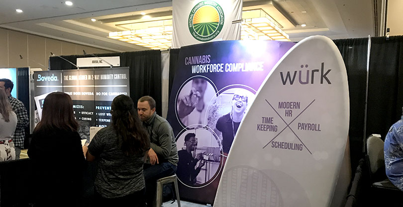WURK booth at CACannaBizCon